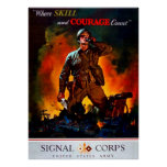 Where Skill and Courage Count Print