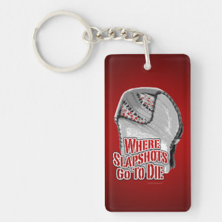 Where Slapshots Go To Die Double-Sided Rectangular Acrylic Key Ring