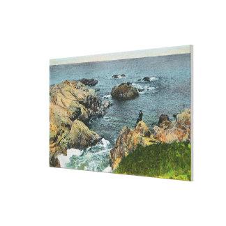 Where the Ocean Meets the Shore Canvas Print