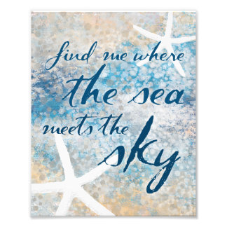 Where the sea meets the sky nautical ocean art photo print