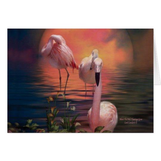 Where The Wild Flamingo Grow ArtCard Card