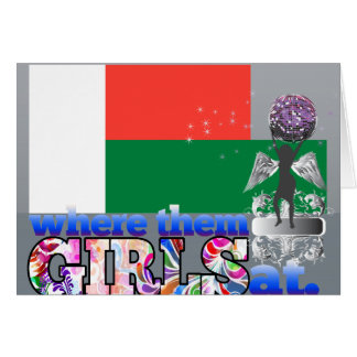 Where them Malagasy girls at? Note Card