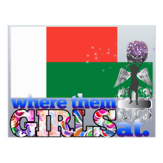 Where them Malagasy girls at? Postcard