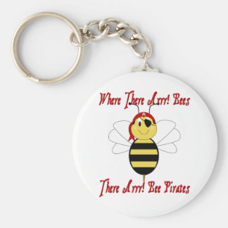 Where There Arrr! Bees Keychain