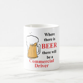Where there is Beer - Commercial Driver Basic White Mug