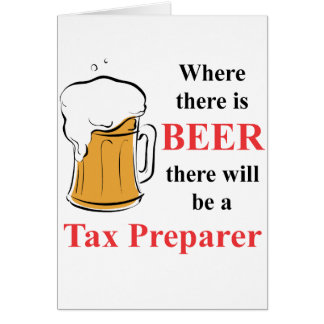 Where there is Beer - Tax Preparer Note Card
