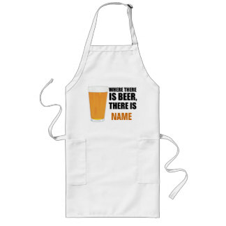Where There is Beer, There is Name BBQ Apron