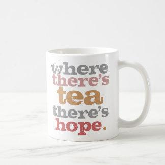 where there s tea there s hope mug