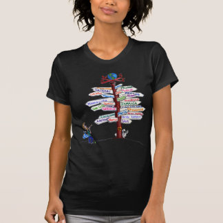 Where To Go Road Signs T-Shirt Customizable