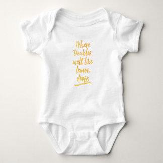 Where troubles melt like lemon drops baby onsie baby bodysuit