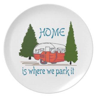 Where We Park It Plates