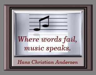 Where Word Fail Music Quote