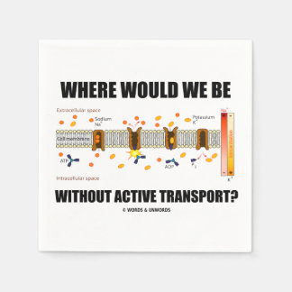 Where Would We Be Without Active Transport? Disposable Serviette