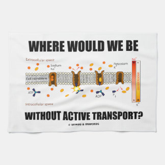Where Would We Be Without Active Transport? Tea Towel