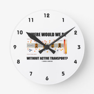 Where Would We Be Without Active Transport? Wall Clocks