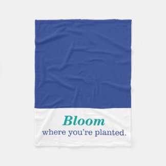 Where You're Planted Fleece Blanket