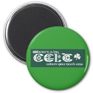 Where's a Celt? 6 Cm Round Magnet