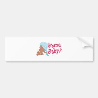 Where's Baby? Bumper Sticker