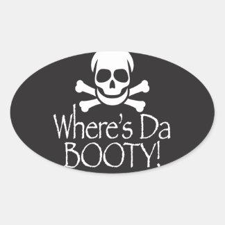 Where's Da Booty Oval Sticker