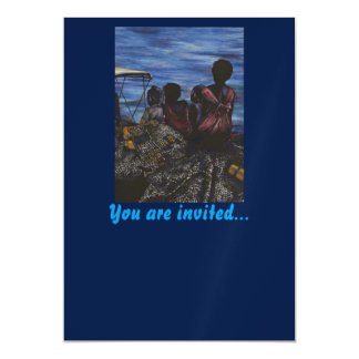 Where's Daddy? Harbor Island Magnetic Invitations