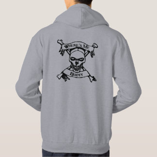 Where's Me Booty Skull and Crossbones Hoodie