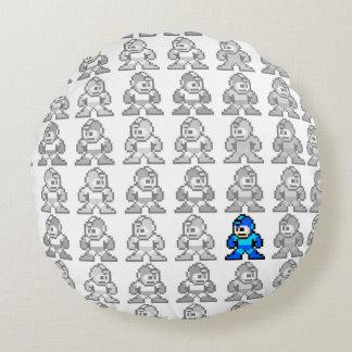 Where's Mega Man? Round Cushion