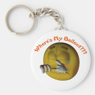 Where's My Bailout Basic Round Button Key Ring