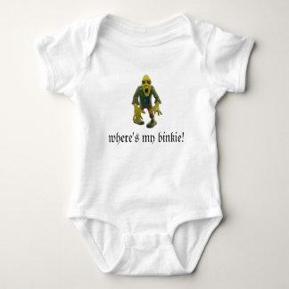 WHERE'S MY BINKIE?ZOMBIE BABY JUMPER light color Baby Bodysuit
