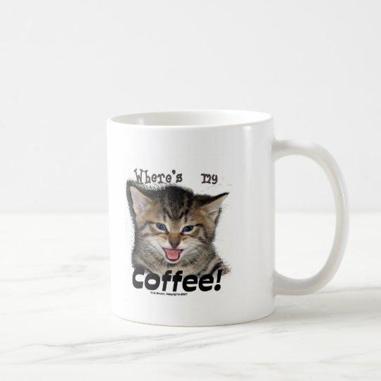 Where's my Coffee Cat Coffee Mug