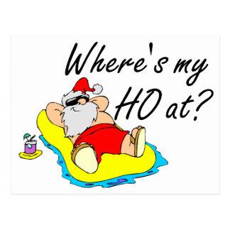 Where's My Ho At Postcard