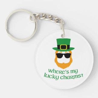 Where's My Lucky Charms? Single-Sided Round Acrylic Keychain