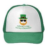 Where's My Lucky Charms? St Patrick Day Leprechaun Cap