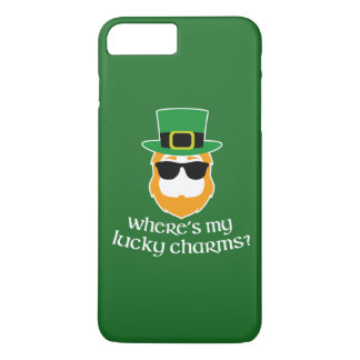 Where's My Lucky Charms? St Patrick Day Leprechaun iPhone 8 Plus/7 Plus Case