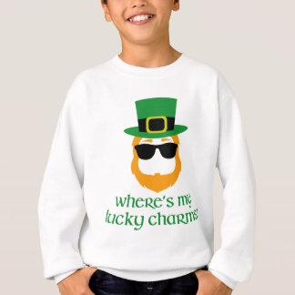 Where's My Lucky Charms? St Patrick Day Leprechaun Sweatshirt