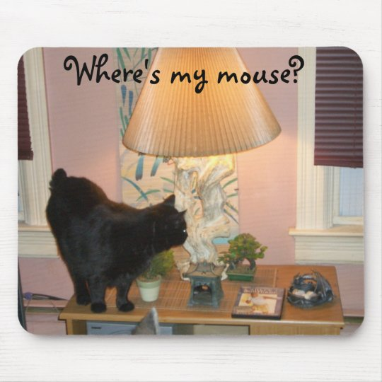 Where's my mouse? mouse mat