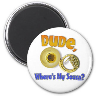 Where's My Sousa? 6 Cm Round Magnet