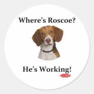 Where's Roscoe? Classic Round Sticker