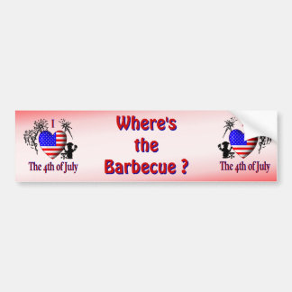 Where's the Bar B Que Bumper Sticker