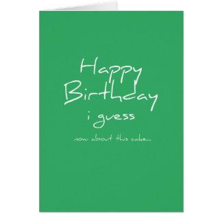 Where's the cake? - Birthday Card - Green