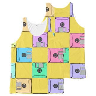 Where's the floppy disk? All-Over print tank top