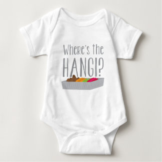 Wheres the HANGI? (New zealand maori feast) Baby Bodysuit