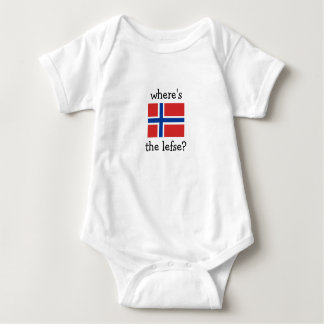 where's the lefse? baby bodysuit