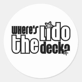 Where's the Lido Deck? Round Sticker
