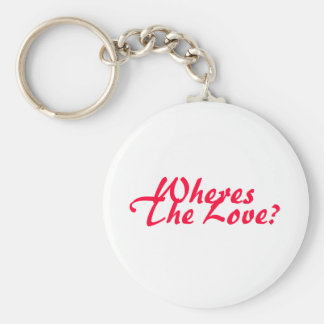 Wheres The Love? Basic Round Button Key Ring