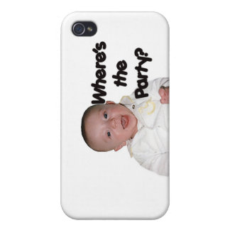 Where's The Party  iPhone 4 Cover