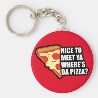 Where's the Pizza Key Ring