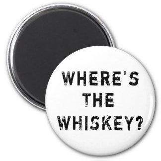 Where's The Whiskey Fridge Magnets