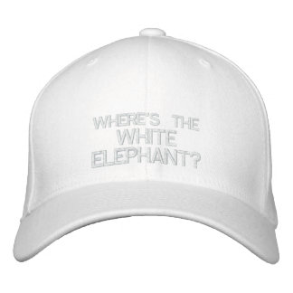 WHERE'S THE WHITE ELEPHANT? - Customizable Cap Embroidered Hats