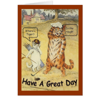 Where's Tiger Greeting Card
