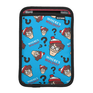 Where's Waldo Blue Pattern iPad Mini Sleeve